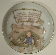 "Royal Bayreuth RARE Little Boy Blue Nursery Rhyme 4"" Children's Tea Set Saucer"