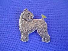 Bouvier des Flandres Butterfly pin #43A Pewter Dog Jewelry by Cindy A. Conter