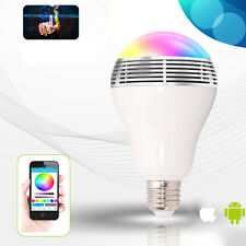 Smart LED Bulb Light Wireless Bluetooth Speaker 12W Lamp for Android iPhone Aa