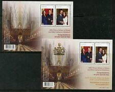 Weeda Canada 2465b, 2465c VF mint NH set of Royal Wedding S/S, 1 overprint CV$11