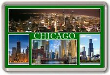 FRIDGE MAGNET - CHICAGO - Large - USA TOURIST