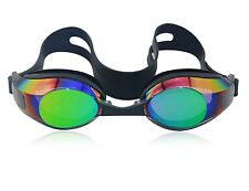 Ipow Anti-fog Mirrored Silicone seal watertight Swim Swimming Goggles Nose Clip