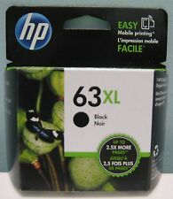 HP 63XL HIGH YIELD GENUINE BLACK INK CARTRIDGE, NEW IN BOX