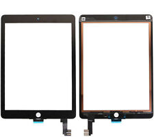 "GLS: VETRO + TOUCH SCREEN NERO per APPLE IPAD AIR 2 9,7"" DISPLAY A1566 RICAMBIO"