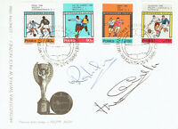 Ray WILSON Nobby STILES Signed Autograph FDC COA AFTAL ENGLAND World Cup 1966 D