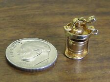 Vintage gold filled ANTIQUE MOVABLE ICE CREAM CHURNER MAKER BRACELET charm