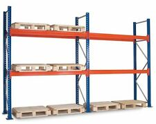 2 Bays Dexion Compatible Pallet Racking 3.0H, 2 Levels of 2743mm Beams Per Bay
