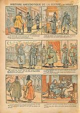 Caricature Guerre Action Française Palais Royal Député WWI 1917 ILLUSTRATION