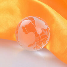 LS 30mm Frosted Crystal Earth Globes Clear World Ball Marble Globe Wholesale