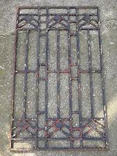 Ancienne grille de porte art déco en fonte : 100 X 60 cm