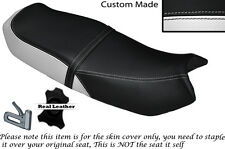 WHITE & BLACK CUSTOM FITS HONDA CB 250 RS DUAL LEATHER SEAT COVER ONLY