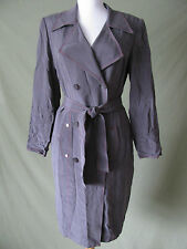 NWOT ADRIANNA PAPELL 100% SILK CAREER BUTTON DOWN SUIT JACKET DRESS 8 MEDIUM M