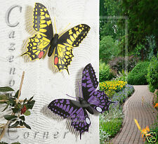2 Set Butterfly Wall Decoration/Garden Ornaments - Wall/Fence/Tree Mounted art