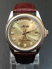 MIDO COMMANDER GENTS SWISS MADE 2836-2 AUTOMATIC WATCH, USED.