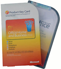 MS OFFICE Home and Business 2010 BOX Vollversion PKC 32+64bit Windows MUI DE