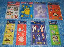 New Vintage Pokemon Lot of 8 packs Old School Stickers Next Day USA Shipping