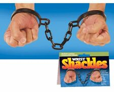 WRIST SHACKLES GIMMICK NOVELTY COSTUME PARTY FANCY DRESS STAGE PROP SHOWS