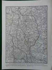 WW1 WAR MAP 1918 SECOND BATTLE OF LE CATEAU OCTOBER 1918