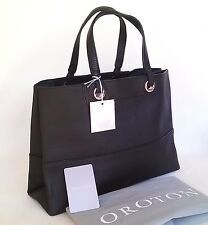 RRP$345 NEW OROTON Women Bag Entourage Handbag Tote Shopper Full Leather Black