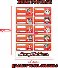 CHRISTMAS PRESENT LABELS SANTA CLAUS GIFT WRAP TAGS TO AND FROM STICKER RED