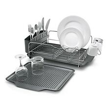 Dish Drying Rack Stainless Steel Drain Advantage Utensil Holder Drainer Kitchen