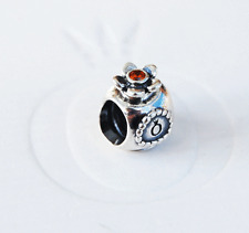 Genuine Pandora Charm Bead Perfume Bottle w. orange Crystal 790427OCZ - retired