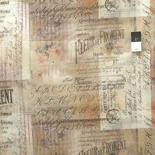Tim Holtz PWTH036 Wallflower Shabby Script Multi Cotton Fabric By Yard