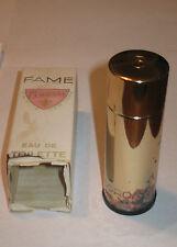 Vintage Perfume Bottle & Box - Corday - Fame - Eau De Toilette - 1 OZ - Empty