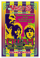 Rock Power Trio: Eric Clapton & Cream at Whisky in L.A. Concert Poster 1967