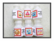 60 Shopkins Birthday Bubble labels Stickers Party Favors