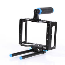 Video Camera Cage Support for 15mm Rod Rig Mattebox Canon Nikon Camcorder DSLR