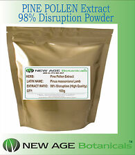 PINE POLLEN 98% Disruption Powder Extract (Highest Grade) - 100g