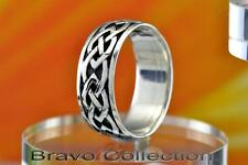 SIZE 10 Fine Jewellery Gift New Solid 925 Sterling Silver Celtic Men Ring R-221