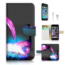 """iPhone 6 (4.7"""") Print Flip Wallet Case Cover! Wine Cup P0512"""