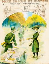 Societe Francaise des Munitions by Henri Edmund Ruduax A1 Canvas Print