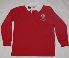 "Childs Red WALES RUGBY SHIRT, size 22"" ,approx 4-5 yrs,  Welsh, Cymru"