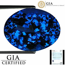 9.32 Ct GIA Certified AAA Natural D Block Tanzanite Blue Violet Oval Cut