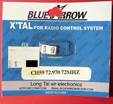 BLUE ARROW Micro FM Receiver Crystal (1) 72Mhz UM-5 CH59 72.970 for RC Airplanes