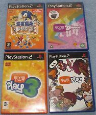 Eye Toy Bundle x 4 ;  Play,  Play 3  , Groove , Sega SuperStars    PS2