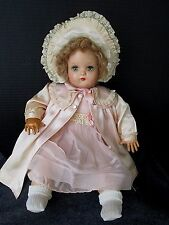 "VINTAGE 1940's MADAME ALEXANDER LITTLE GENIUS BABY DOLL 20""  COMPOSITION/CLOTH"