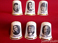Set of 6 Addams Family (Gold Gilded) Collectors Thimbles