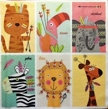4 x SINGLE PAPER NAPKINS funny animals DECOUPAGE  CRAFT 116