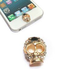 NEW 3D Skull Rhinestone Alloy Home Button Sticker For Apple iPhone 5 5S 5C 4S 3G