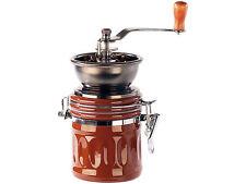 Molinillo de café con metal, Manivela y depósito aromático Molino cerámica