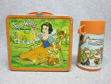 1975 SNOW WHITE & SEVEN DWARFS  Walt Disney Movie LUNCHBOX & THERMOS  C#8+