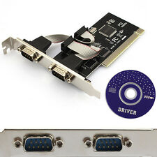 LUXURY  2 Ports PCI to COM 9-pin Serial Series Port RS232 Card Adapter 3CD
