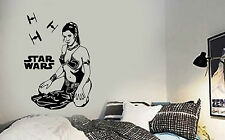 STAR WARS PRINCESS LEIA Carrie Fisher Vinyl Wall Art Sticker Decal