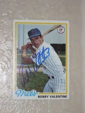 1978 Topps N.Y. Mets Bobby Valentine Signed Baseball Card/Free Ship!