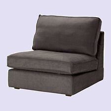 IKEA Kivik One-Seat Sofa Cover Tullinge GRAY-Brown Chair(2ShipDisc)Slipcover NEW