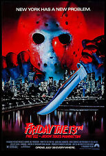 Friday the 13th  Part VIII Jason Takes Manhattan Poster 1989 Large Format 24x36